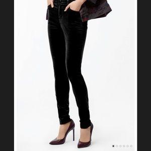 Black Maria J  Brand velvet skinny jeans